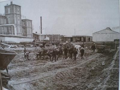 Строительство завода «Зингера» в Подольске